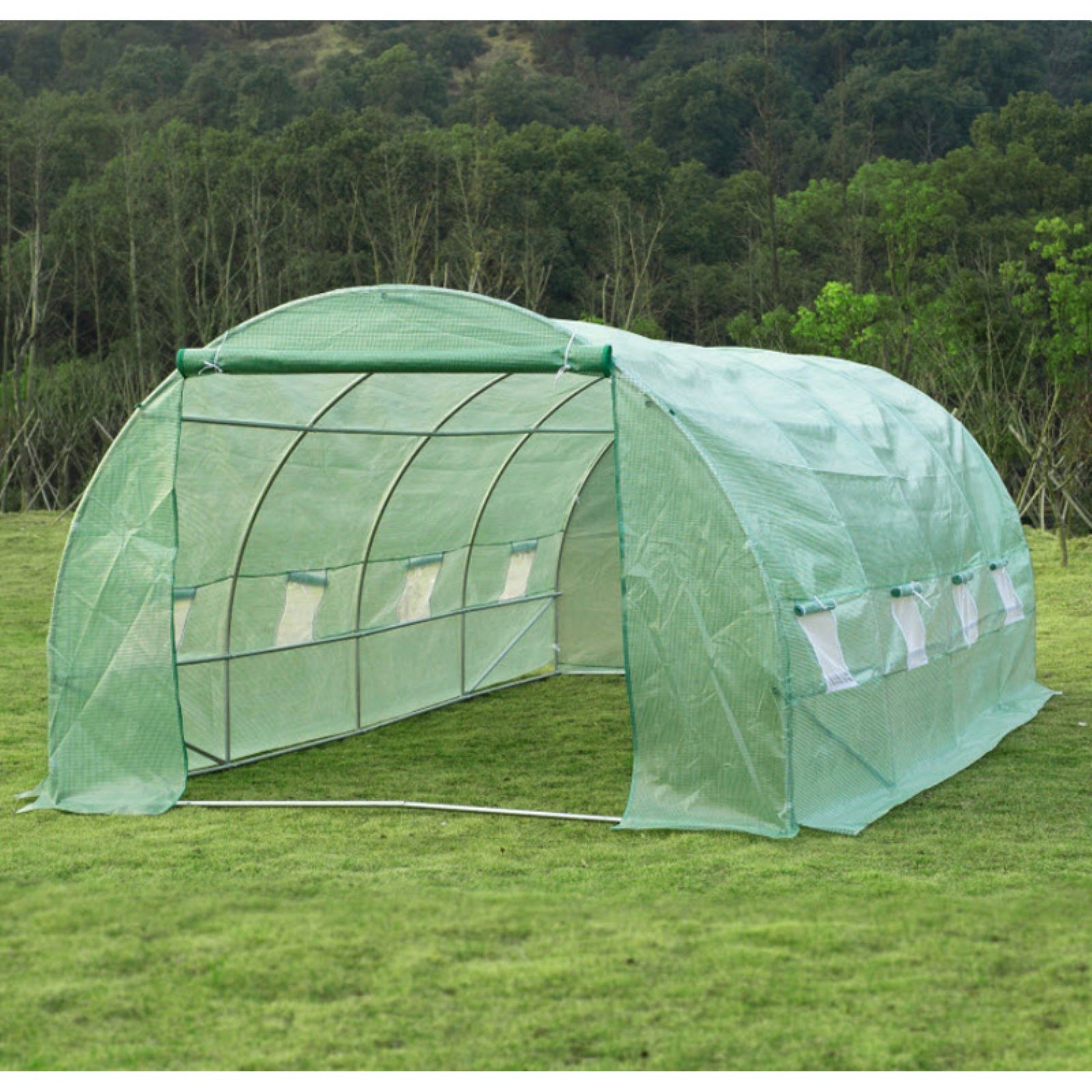 Outsunny Portable 20 x 10 ft. Walk-In Garden Dome Top Greenhouse
