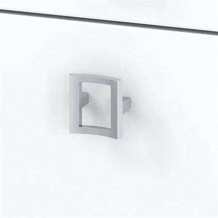 Office by Kathy Ireland Echo L Shaped Desk Office Suite in Pure White - image 1 de 7