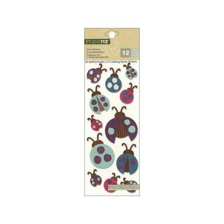 Ladybug Stickers (K&Co Studio 112 Sticker Epoxy)