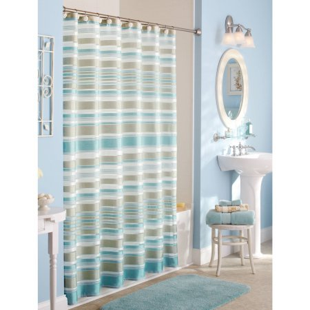 Stripes Fabric Shower Curtain