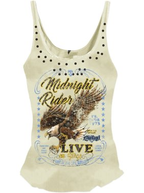 3cdf8aedc95 Product Image Lethal Threat Midnight Rider Womens Tank Top (White, 1X)
