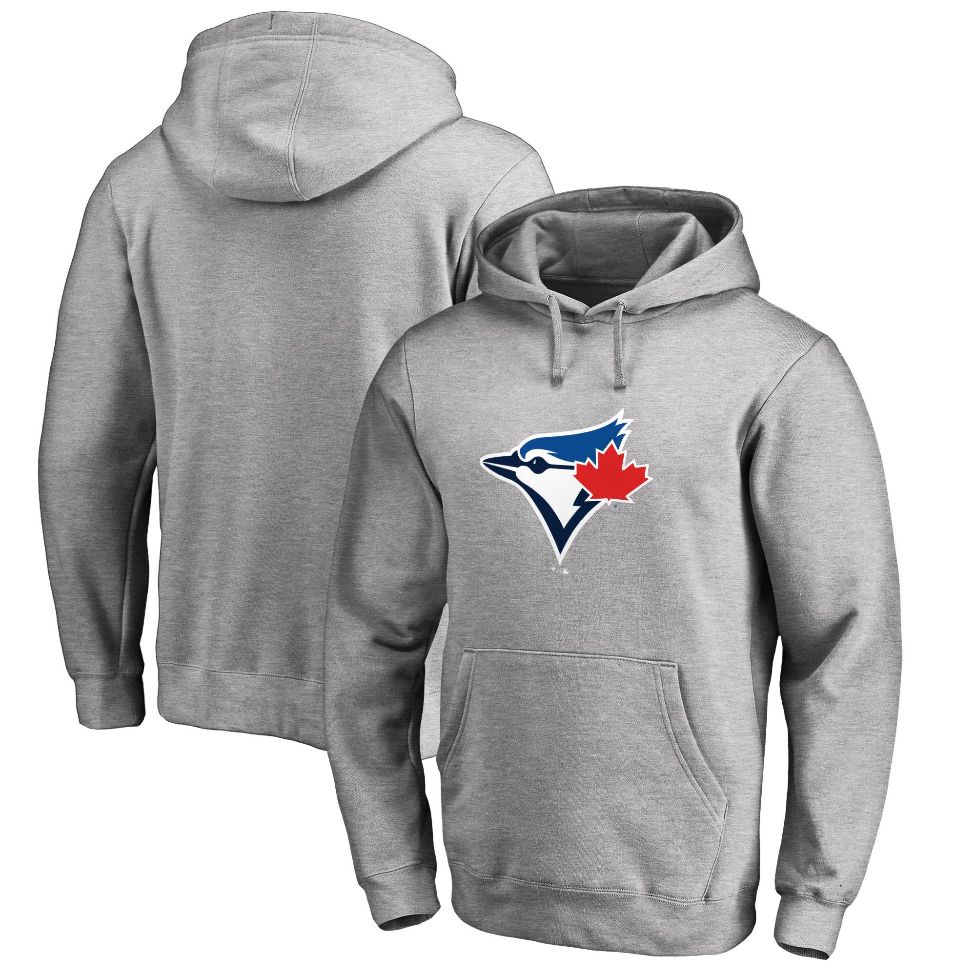 Toronto Blue Jays Big & Tall Primary Team Logo Pullover Hoodie - Ash