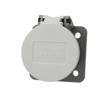 Leviton 16S31-W NEMA Type 3R Enclosure with Automatic Closing Lid, Thermoplastic Housing and Cover, Stainless Steel Torsion Spring, White ()