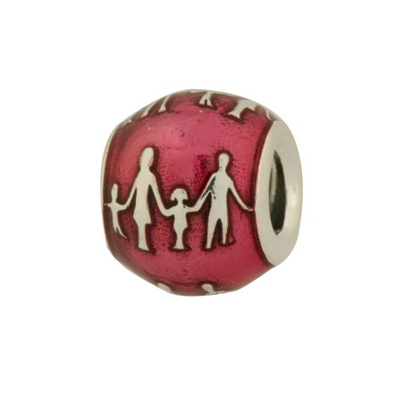 Authentic Family Bond Charm in 925 Sterling Silver w/ Violet Enamel, 791399EN62