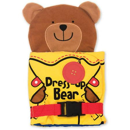 Melissa & Doug Soft Activity Baby Book - Dress Up Bear (Babys 1st Bear)