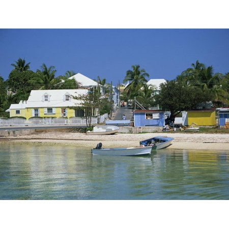 Waterfront and Beach, Dunmore Town, Harbour Island, Bahamas, West Indies, Central America Print Wall Art By Lightfoot