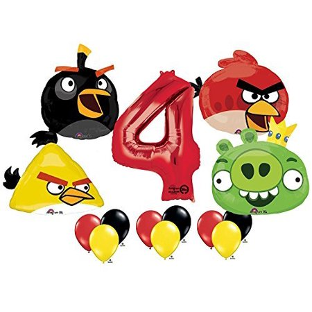 The Ultimate Angry Birds 4th Birthday Party Supplies and Balloon Decorations](Angry Bird Balloon)