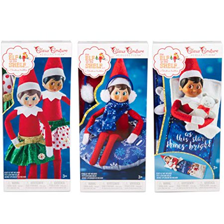 Elf on The Shelf Claus Couture Dress-up Set, 3 Pack - Includes Party Skirts, Snow Tube Set, and Slumber Party - Halloween Slumber Party Ideas