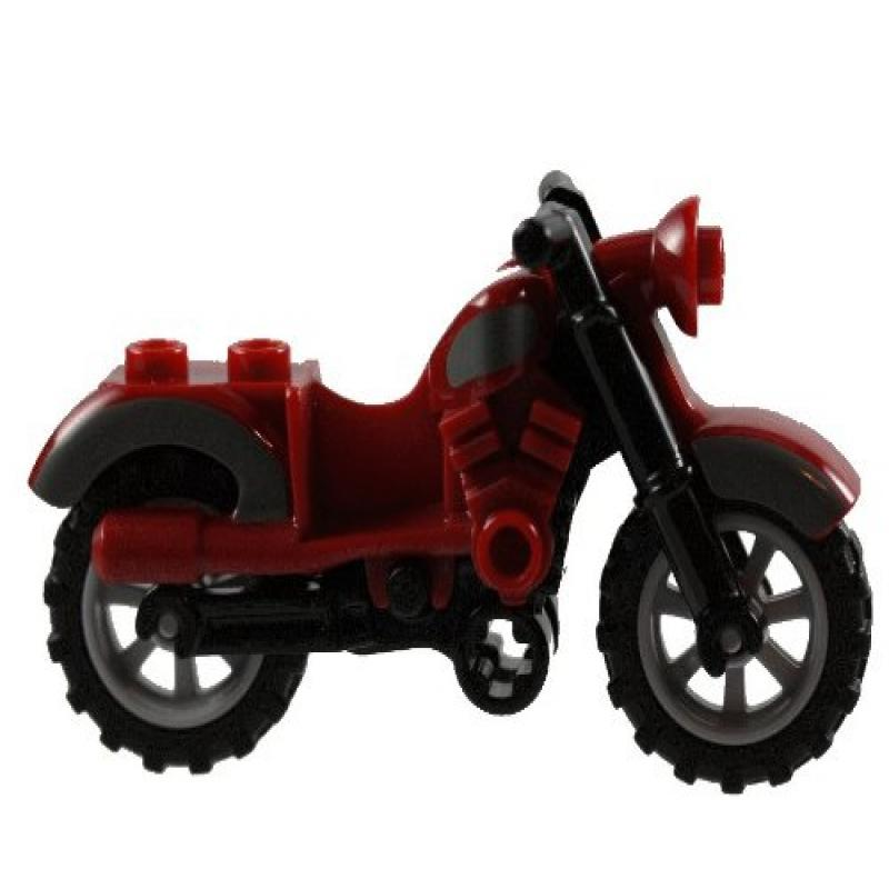 Lego Motorcycle Dark Red Harley by