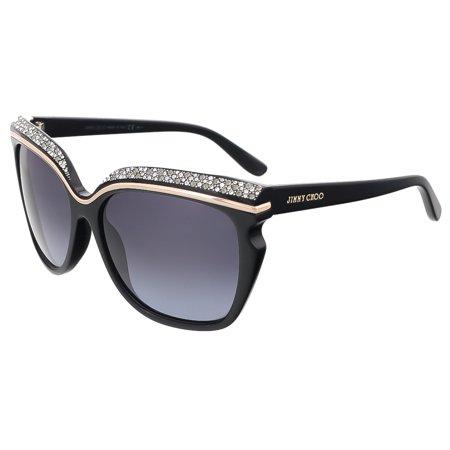 Jimmy Choo  SOPHIA/S 0807 Black Square (Jimmy Choo Black Sunglasses)