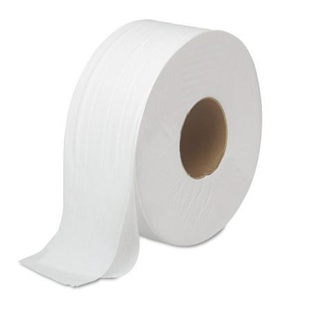 Boardwalk JRT Jumbo Two-Ply White Bath Tissue, 1000 sheets, 12 ct (Boardwalk Food)