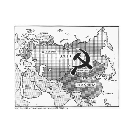Great Decisions Map of Communist Countries Print Wall Art - Walmart.com