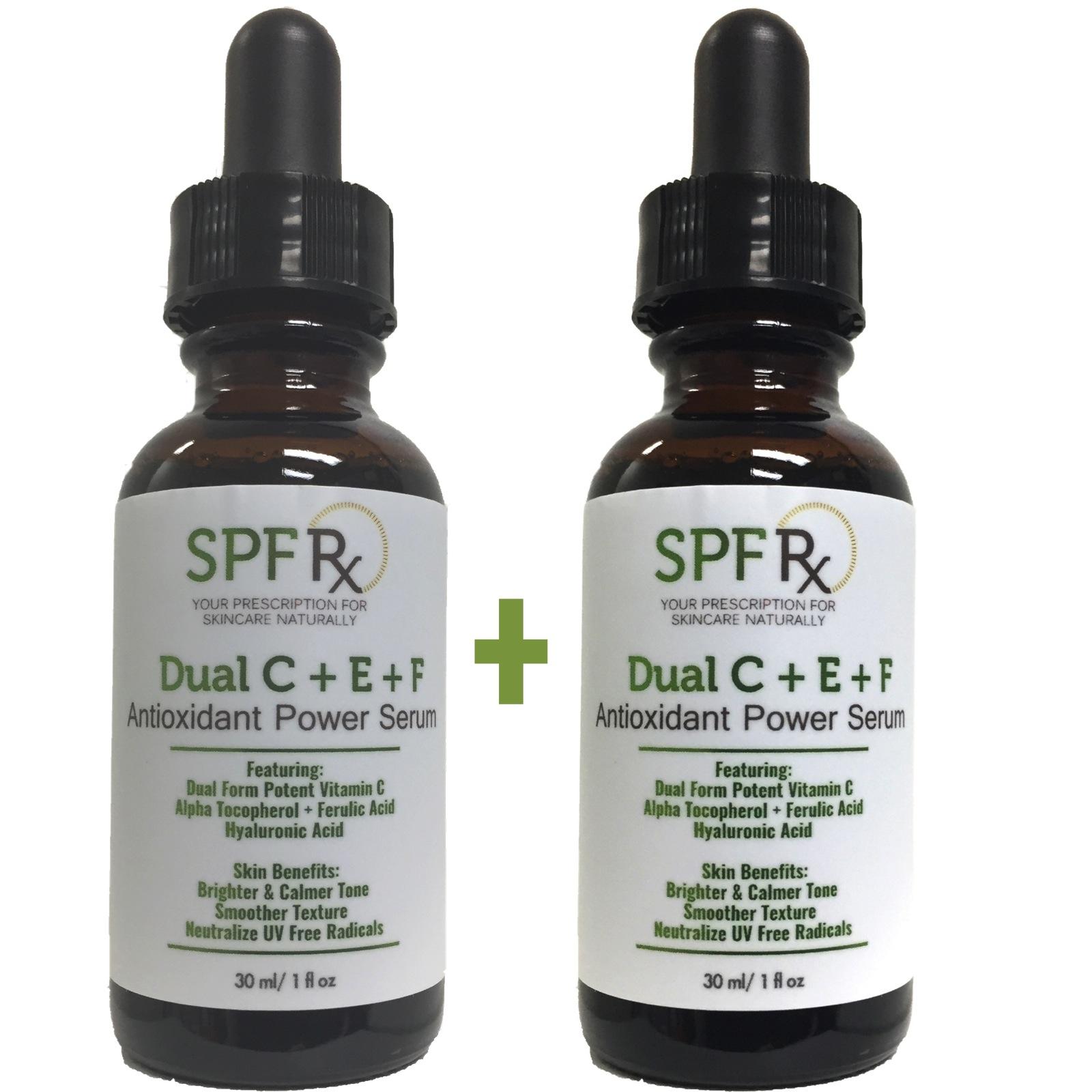 SPF Rx Dual C E Ferulic Acid Serum, an Antioxidant Power ...