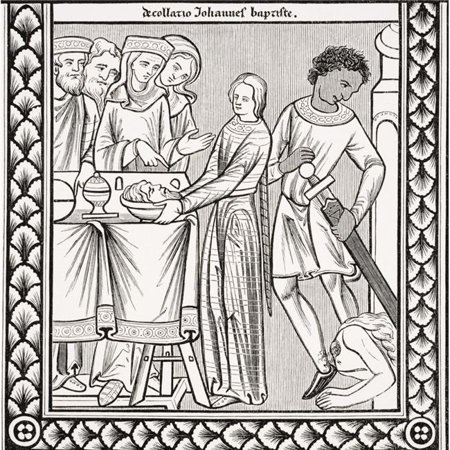 Execution of John The Baptist. Copy of Miniature in 13th Century Psalm Book of St Louis Poster Print, Large - 24 x (St John The Baptist School St Louis Mo)