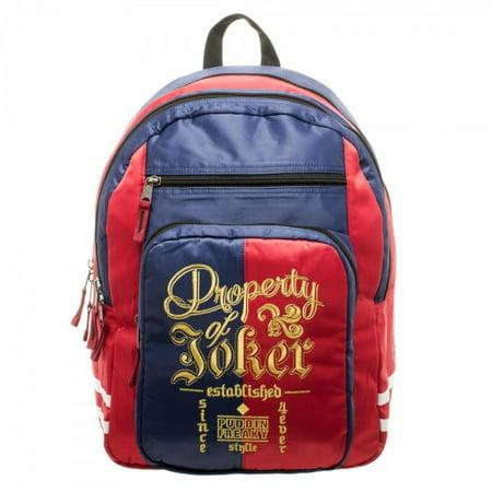 Backpack - Suicide Squad - Harley Quinn Property of Joker New Licensed bp434pssq