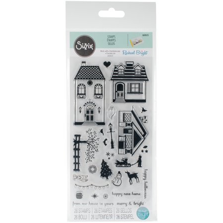 Sizzix Clear Stamps - Happy Homes by Rachael Bright