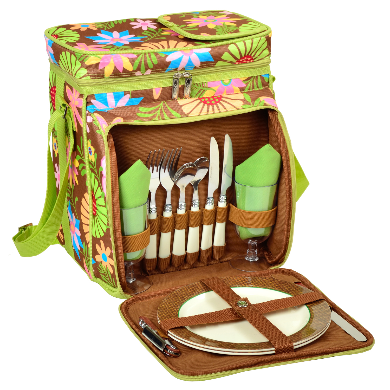 Picnic at Ascot Floral Picnic Cooler for 2 (526-F)