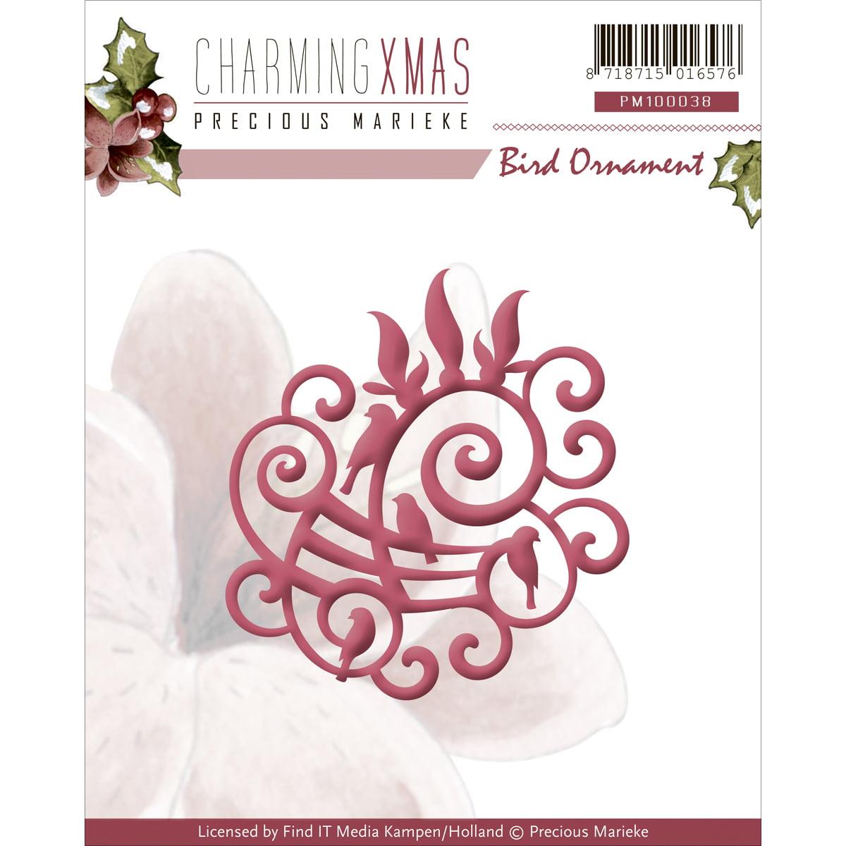Find It Trading Precious Marieke Charming Christmas Die-Bird Ornament