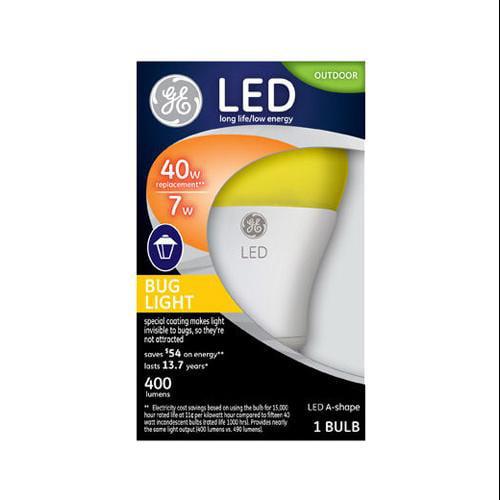 Led Bug Light Bulb, Yellow, 7 watt, GE, 92140