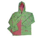 Little Boys Happy Gators in Green Rain Coat 3T