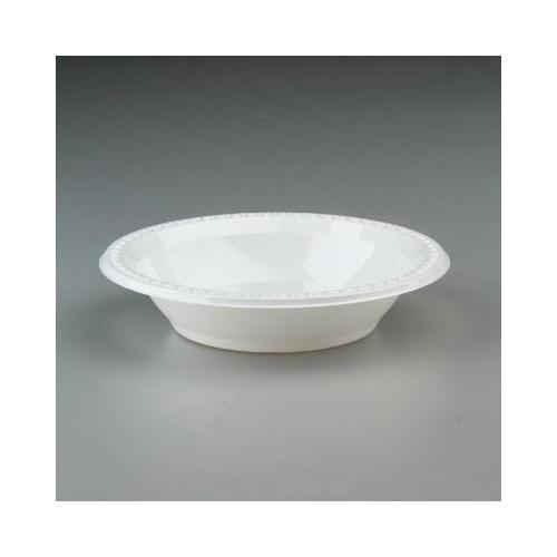 Chinet Plastic Bowls, 32 Ounces, White, Round, Heavyweight, 125/pack HUH81232