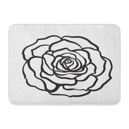 Godpok Beautiful White Single Rose Flower Outline Hand
