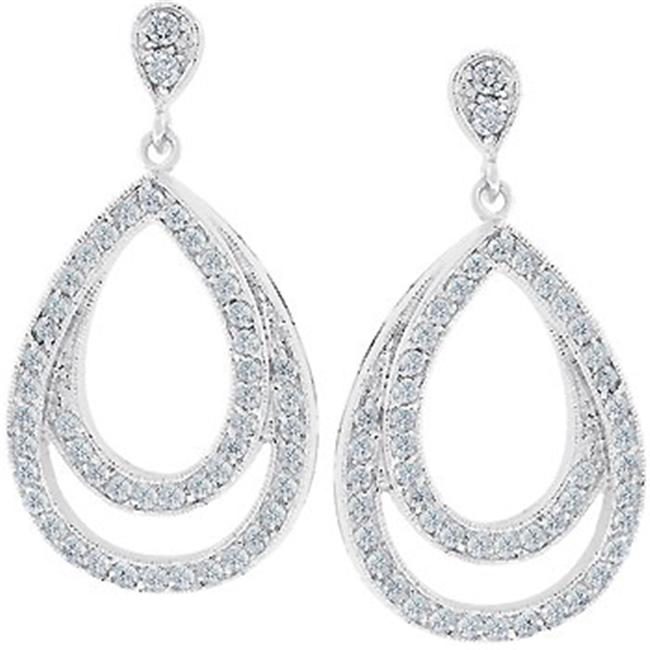 Sunrise Wholesale J1325 Evening Drop Earrings - Silvertone