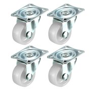 """4 Pieces 1.25"""" inch Swivel Caster Wheels Hard Base with Top Plate & Bearing Set"""