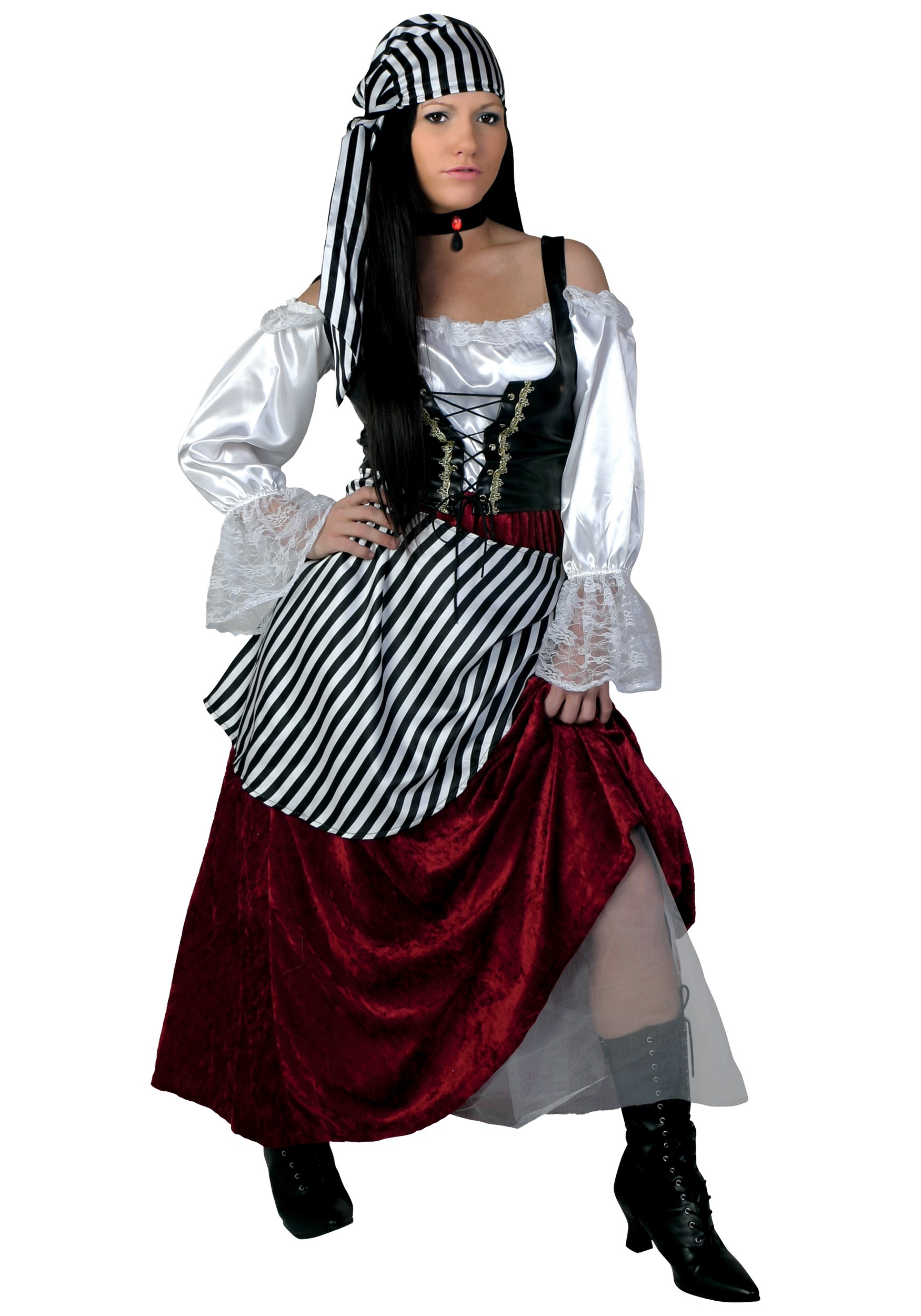 Plus Size Deluxe Pirate Wench Costume by Bayi Co.