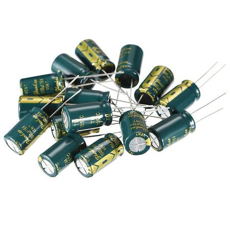 Aluminum Radial Electrolytic Capacitor 1000uF 16V Life 10 x 17mm 15pcs