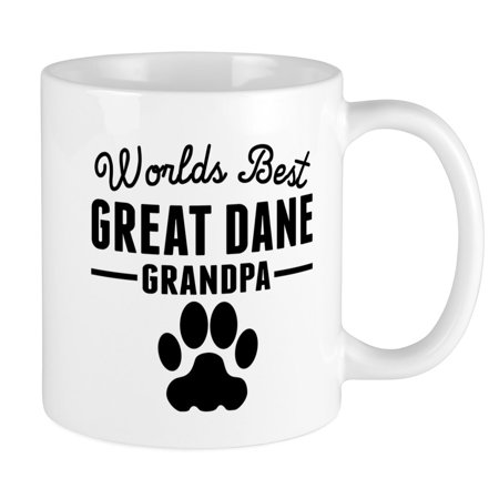 CafePress - Worlds Best Great Dane Grandpa Mugs - Unique Coffee Mug, Coffee Cup