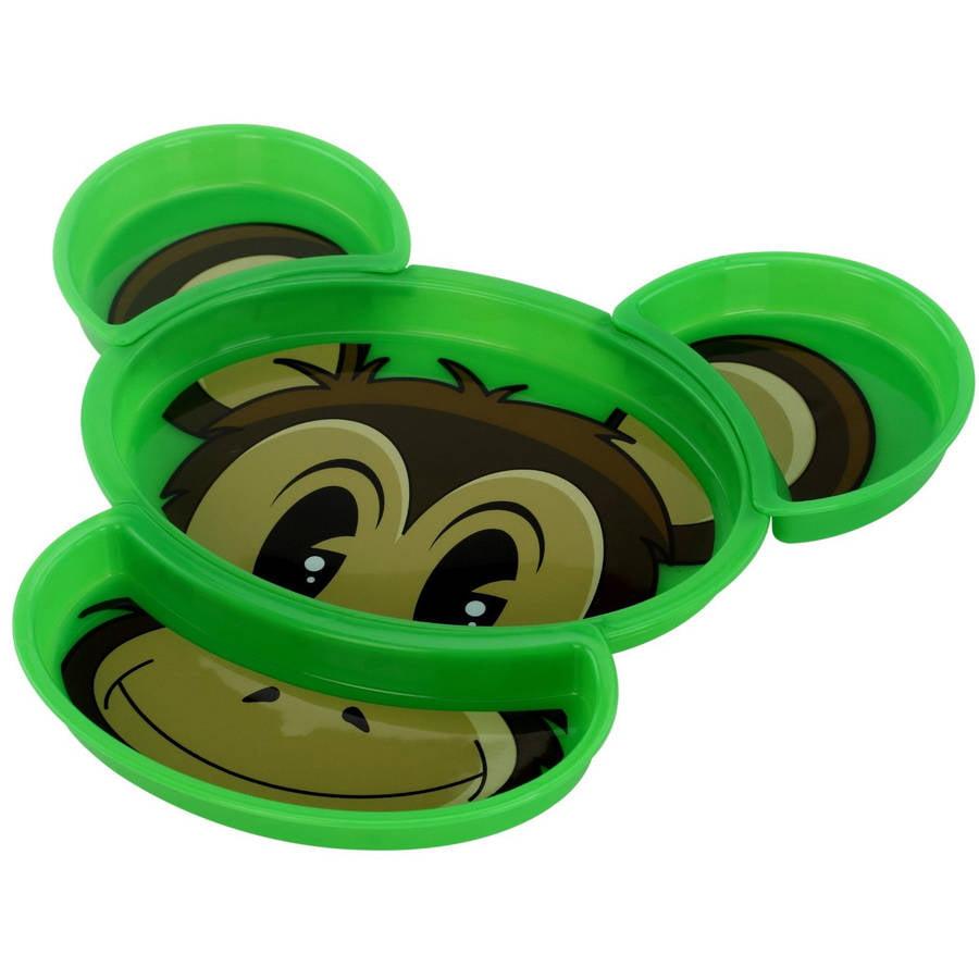 KidsFunwares Build-A-Meal Plate, Monkey