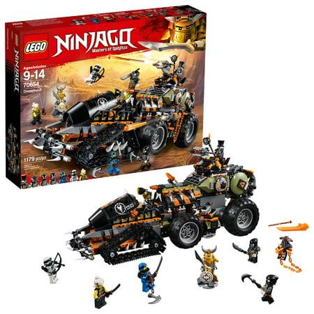 LEGO NINJAGO Masters of Spinjitzu: Dieselnaut 70654 Ninja Warrior Toy and Playset, Fun Building Kit with Brick Battle Tank Vehicle (1179 Piece)