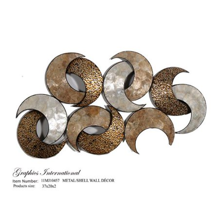 Graphics International 11MJ10457 Metal Wall Decor with Sea Shell