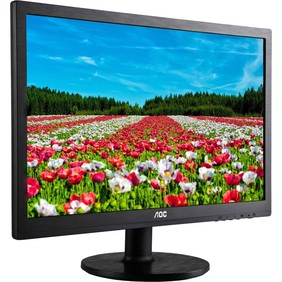 """AOC Monitor 22"""" Class Full HD 1920x1080 VGA DVI-D Built-i..."""