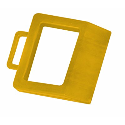 Wesco 272175 Hard Rubber High Visibility Pallet Truck Chock, 11-3/4 Width x 2 Height x 14 Depth, Yellow