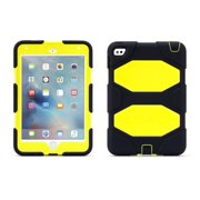Griffin iPad mini 4 Case with Stand, Dark Denim and Neon Yellow Survivor All-Terrain, [Rugged] [Protective] [Dual Layer] [Heavy Duty] [Shock Absorption] [Polycarbonate] [Silicone]
