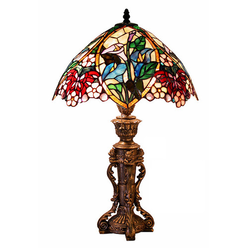 Warehouse of Tiffany Flower Design 23'' H Table Lamp with Bowl Shade