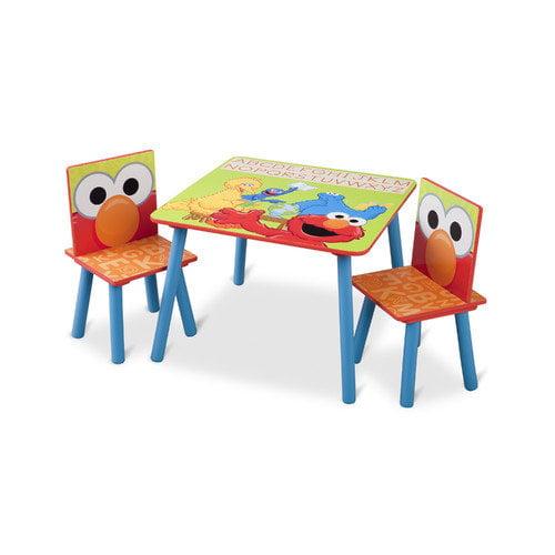 Delta Children Sesame Street Kids' 3 Piece Table & Chair Set
