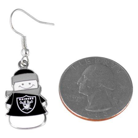 NFL Kansas City Chiefs Snowman Holiday Dangle Logo Earring Set Charm Gift - image 2 de 3