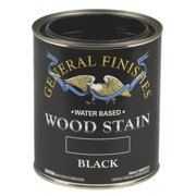 General Finishes Water Based Wood Black Stain, Quart