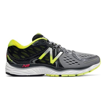 New Balance Men's M1260V6 Running Shoe , GreyYellow, 12.5 D US