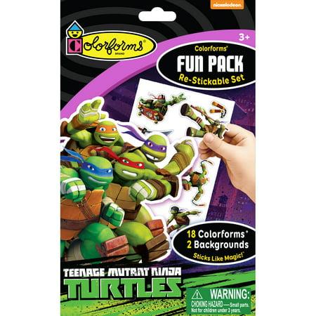 Colorforms(R) Fun Pack Re-Stickable Sticker Set-Teenage Mutant Ninja Turtles - Ninja Turtle Stickers