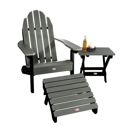 Image of 1 Essential Adirondack Chair with 1 Essential Ottoman & 1 Essential Folding Side Table