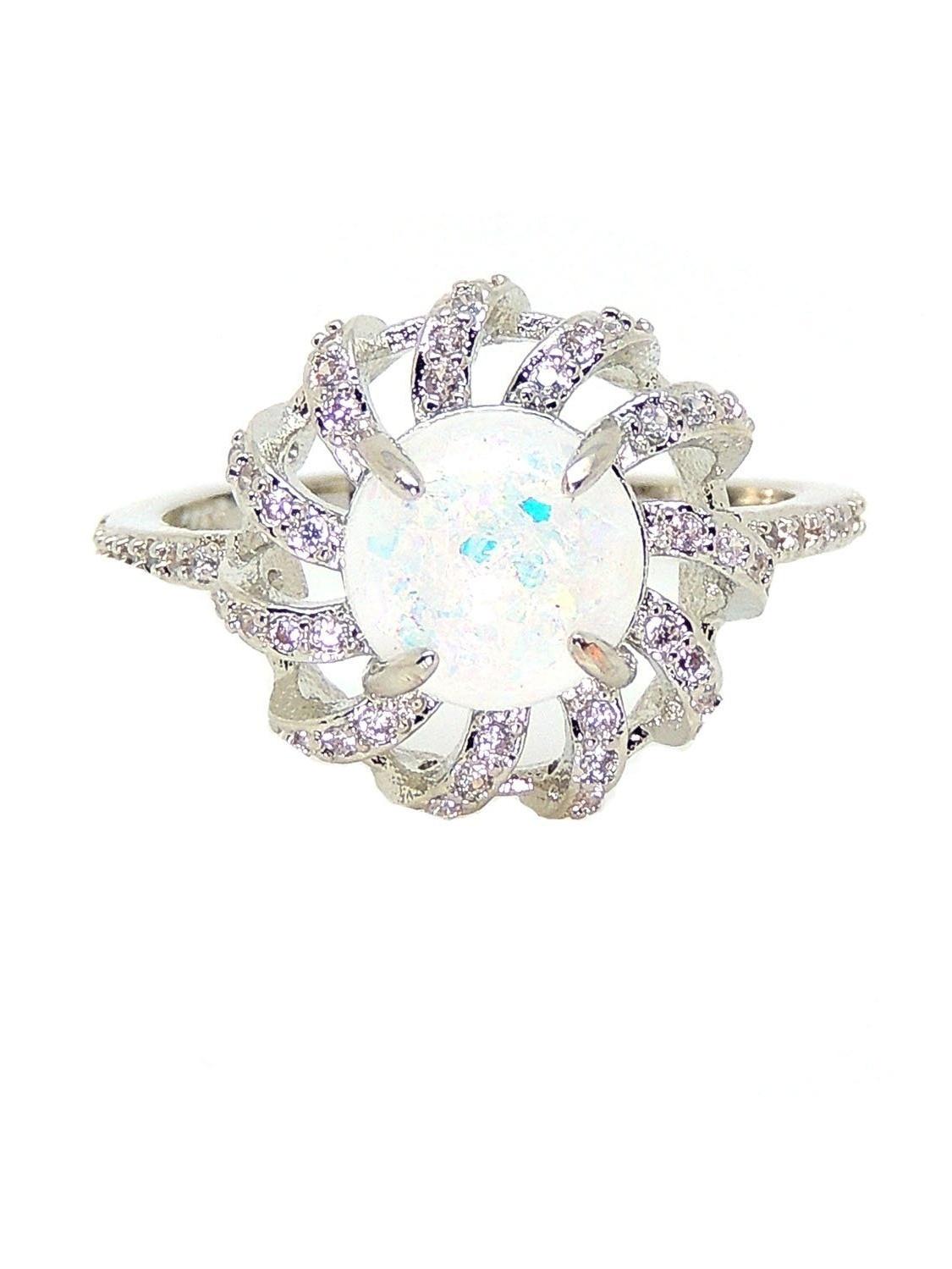 mckayla lab created fire opal with clear accents ring ginger lyne Lab Laboratory mckayla lab created fire opal with clear accents ring ginger lyne collection walmart