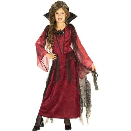 Girls Gothic Halloween Costumes (Gothic Vampiress Girls Child Halloween)