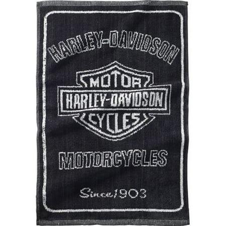 Harley Davidson Golf Greenside Towel, Black/Silver,