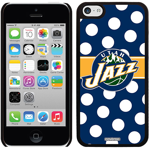 Utah Jazz Polka Dots Design on Apple iPhone 5c Thinshield Snap-On Case by Coveroo