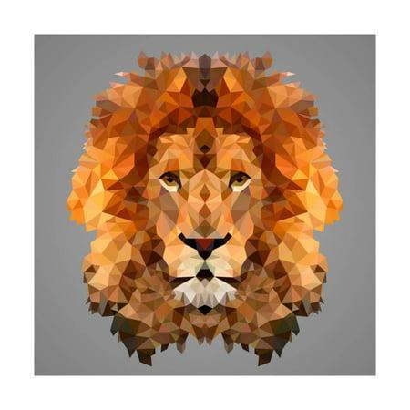 Lion Low Poly Portrait Print Wall Art By kakmyc](Low Poly Portrait)