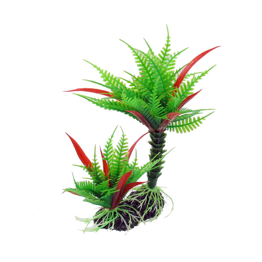 "7.5"" Haut Vert Rouge Plante Plastique Aquarium - image 1 de 1"
